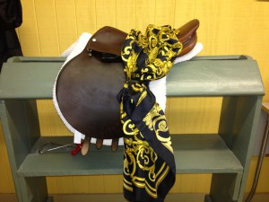 Saddle and scarf
